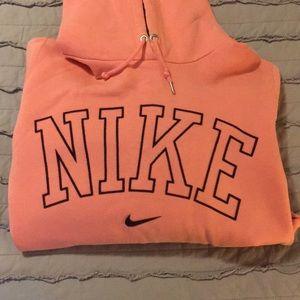 Nike blush pink hoodie